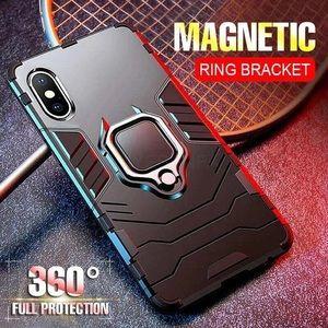 Iphone X Magnetic Shockproof Black Case
